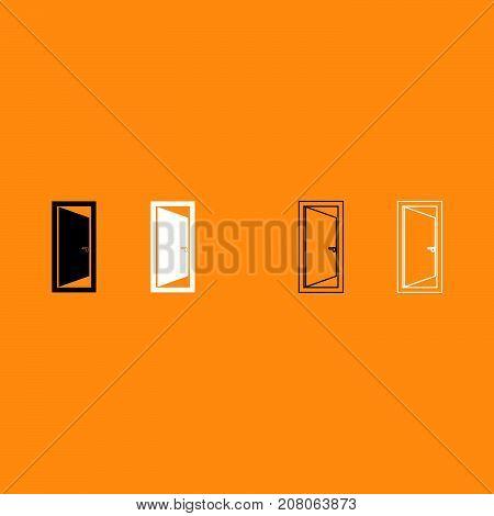 Door It Is White Icon .