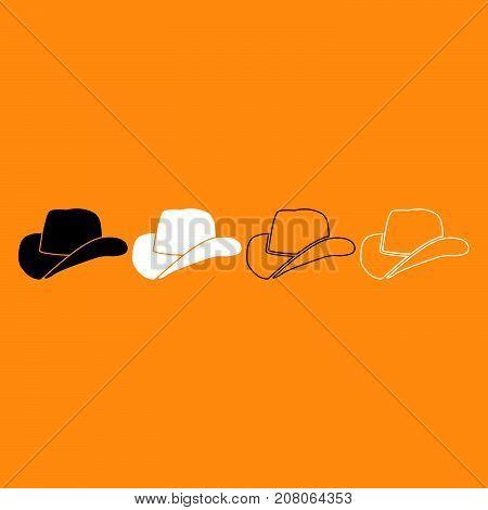 Cowboy Hat It Is White Icon .