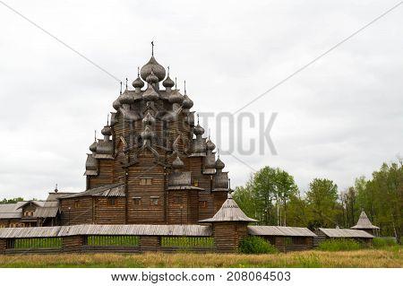Leningrad region Vsevolozhsky district Russia may 17 2015. Nevsky Parclass. The Church Of The Intercession.