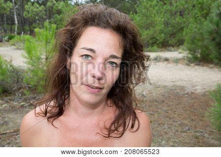 Positive And Joyful Girl In Summer. Happy Attractive Woman