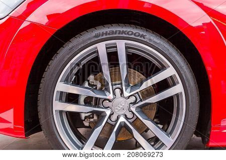 Wheel Red Audi