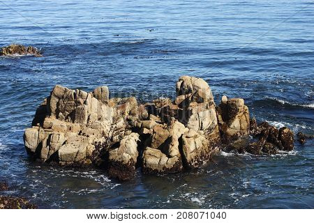 This is an image of rocks just off shore