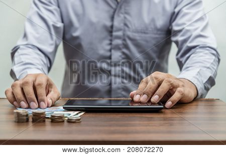 Online Banking And Internet Banking Mobile Banking Concept