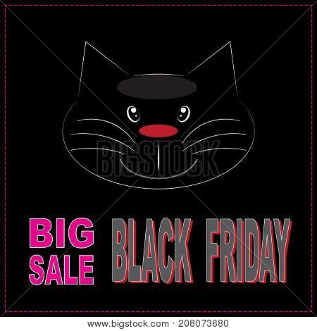 Black friday big sale layout background. Banner poster. Vector illustartion