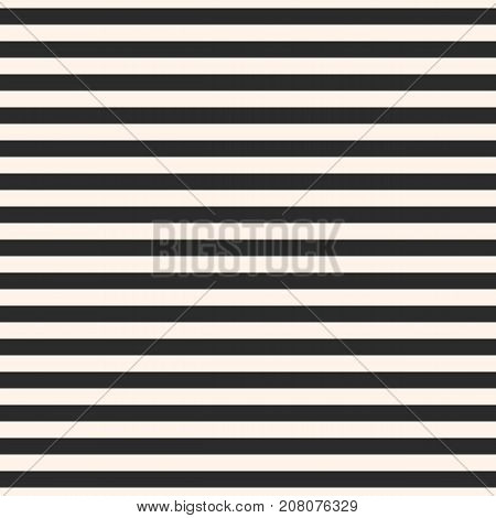 Horizontal stripes vector seamless pattern. Symmetric straight lines texture. Modern abstract geometric striped background. Simple black & white illustration. Repeat design element for decor, prints. Stripes pattern. Lines pattern. Geometric pattern.