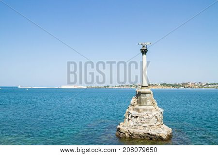 The Famous Monument To The Scuttled Ships In Sevastopol