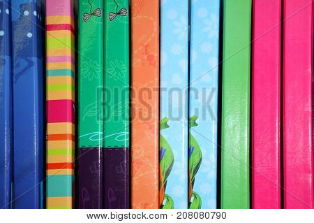 Stationery. School supplies, stationery accessories. Colorful stationery. Stationery store. Goods for office and study.