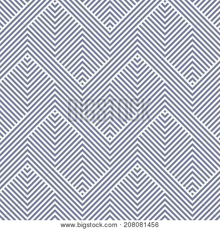 Vector geometric lines pattern. Blue serenity color. Abstract graphic striped ornament. Simple stripes, zigzag shapes. Modern linear background. Stylish repeat design for cloth. Herringbone pattern. Zigzag pattern. Lines pattern. Geometric patetrn.