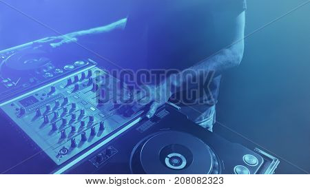 Dj, Man Disk Jockey That Mixes Music