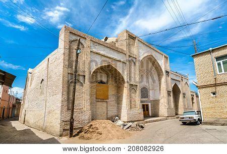 Khodja Zainuddin Mosque in Bukhara, Uzbekistan. Central Asia