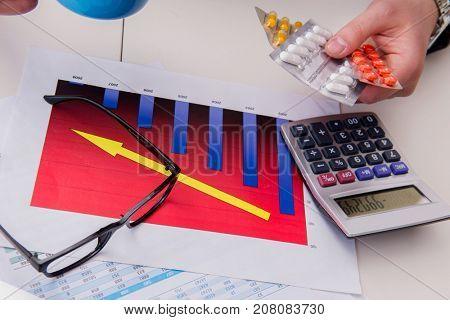 Finance analyst feeling sick due to bad results