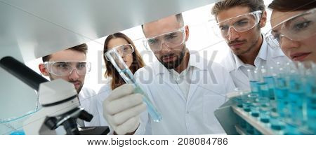 group of pharmacists working in the laboratory.