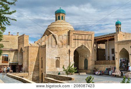 Toki Sarrafon Trading Dome in Bukhara, Uzbekistan. Central Asia