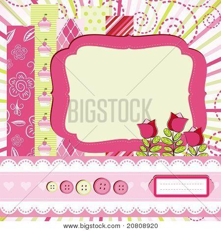 Baby girl Scrap background.