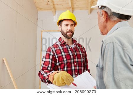Renovation planning with craftsman and artisan in cooperation