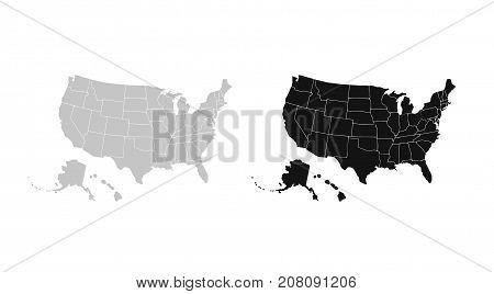 Blank Similar USA Map Vector & Photo (Free Trial) | Bigstock