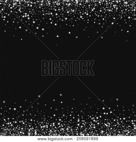 Amazing Falling Stars. Borders With Amazing Falling Stars On Black Background. Attractive Vector Ill