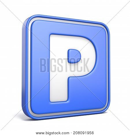 Parking Area Street Sign 3D
