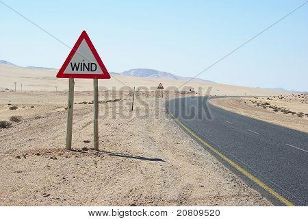 Warning sign sand