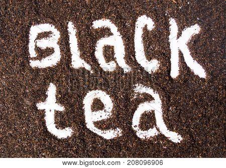 Black Tea Label Imprinted Into Grains