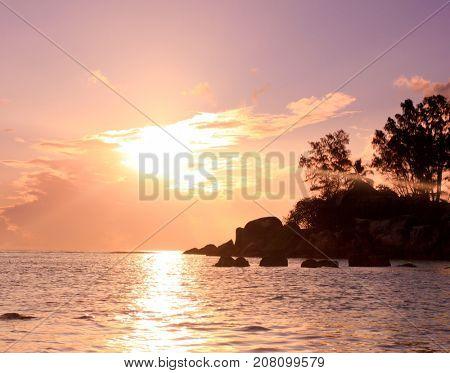 Pinky Glow Island View