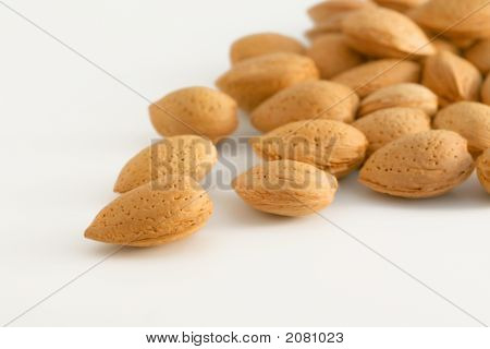 Almond Nuts In Their Shells