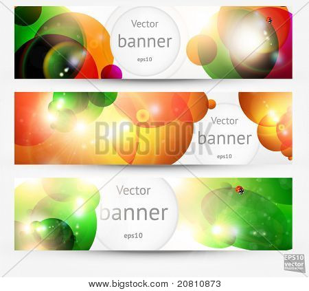 Set of the 160x600 abstract banners for summer design