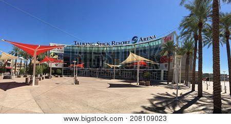 Phoenix AZ USA - September 21 2017: Talking Stick Resort Arena on Phoenix Downtown Arizona