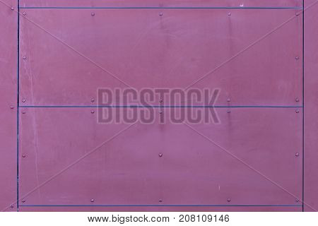 Pink Wall Texture With Rivets And Lines