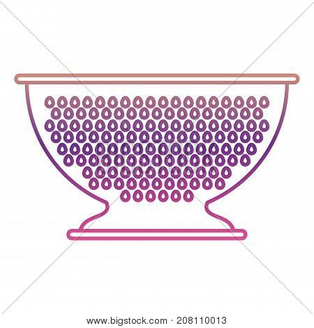 kitchen drainer utensil silhouette gradient color from magenta to purple vector illustration