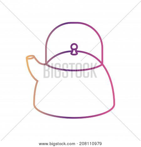 kettle jar silhouette gradient color from magenta to purple vector illustration