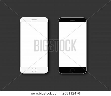 mobile phone screen mockup vector blank template