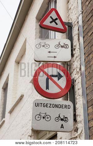 street corner in Bruges