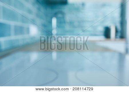 Blurred background on kitchen countertop