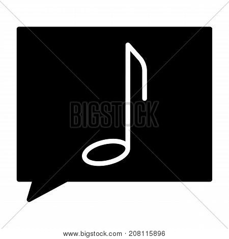Music note silhouette icon. 96x96 for Web Graphics and Apps.  Simple Minimal Pictogram. Vector