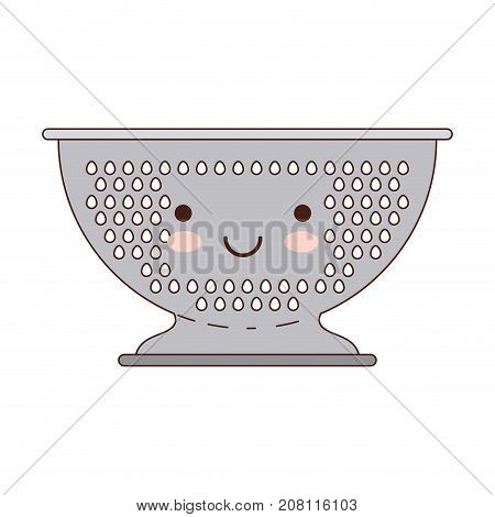 kitchen drainer colorful kawaii silhouette vector illustration