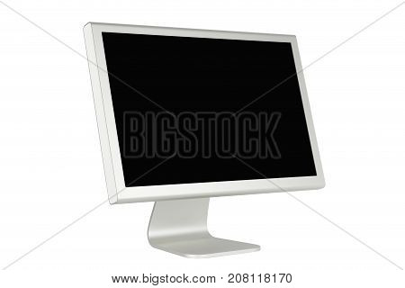 Inclined Lcd Computer Monitor With Minimalist Design