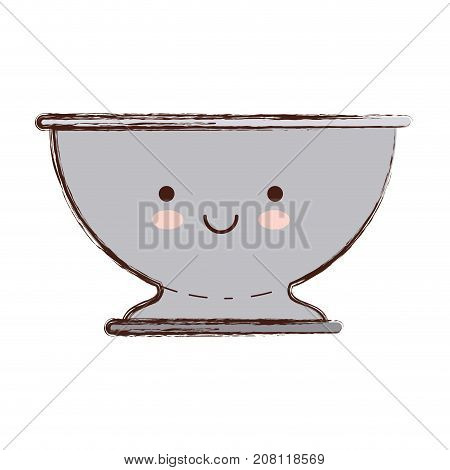 kitchen drainer colorful kawaii blurred contour vector illustration