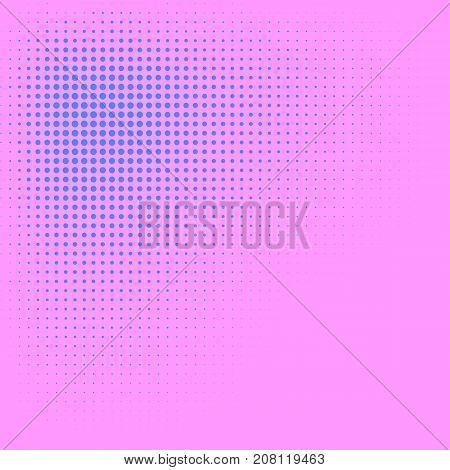Blush pink and violet blue color halftone vector background. Candy color halftone tile. Pale color palette halftone patterns. Retro style cover. Vintage banner template. Abstract retro dotted texture