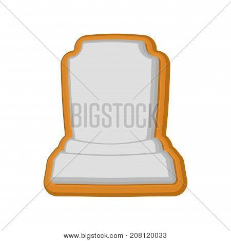 Halloween Cookie Tombstone. Gingerbread Rip. Cookies For Terrible Holiday. Vector Illustration