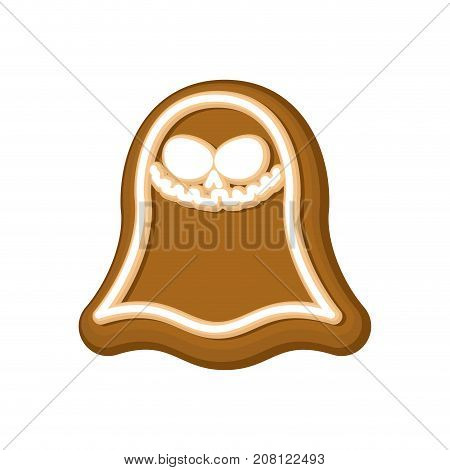 Halloween Cookie Ghost. Cookies For Terrible Holiday. Vector Illustration