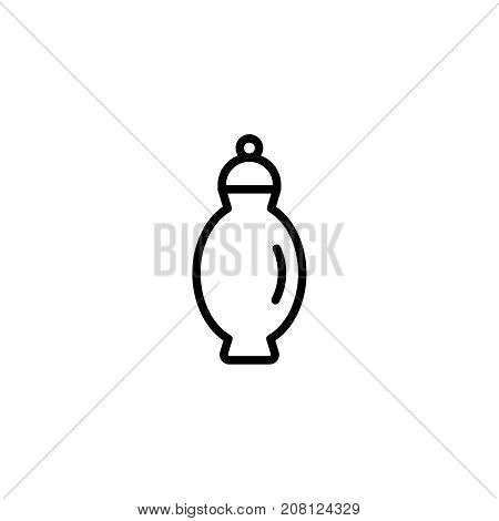 Urn flat icon. Single high quality outline symbol of funeral for web design or mobile app. Thin line signs of death for design logo, visit card, etc. Outline logo of life.