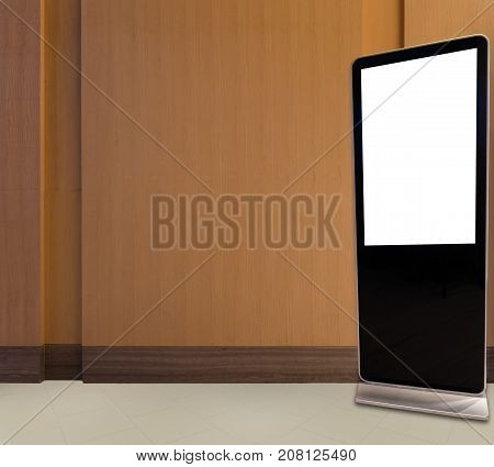 Blank bill board for advertising standing on the floor