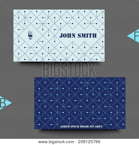 Abstract Modern Background With Rhombus. Business Card Template With Abstract Background. Eps10 Vect