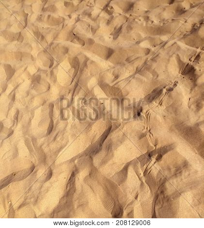 Yellow sand background on the tropical beach