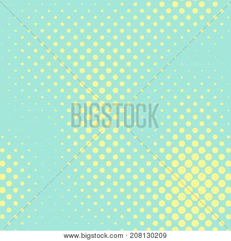 Pastel mint and yellow color halftone vector background. Fresh color halftone tile. Pale color palette halftone patterns. Retro style cover. Vintage banner template. Abstract retro dotted texture