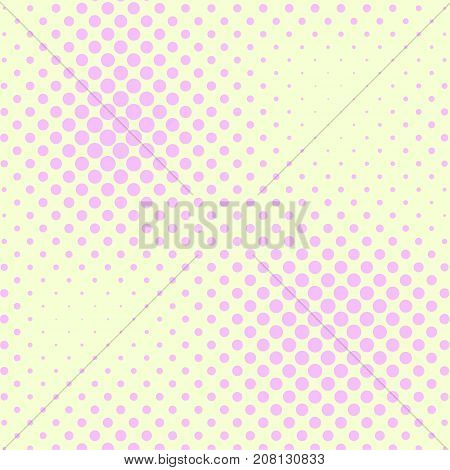 Pastel yellow and pink color halftone vector background. Candy color halftone tile. Pale color palette halftone pattern. Retro style cover. Vintage banner template. Abstract retro dotted texture