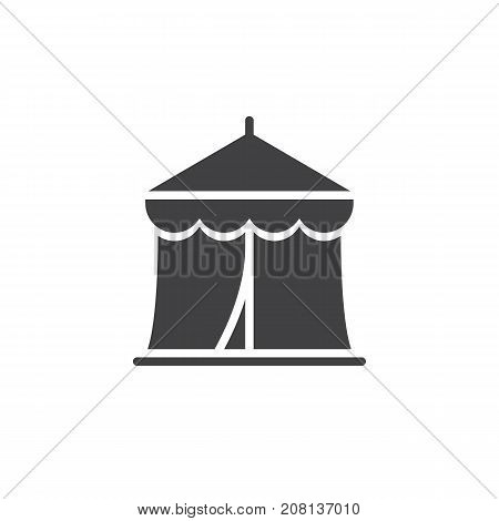 Circus tent icon vector, filled flat sign, solid pictogram isolated on white. Symbol, logo illustration.
