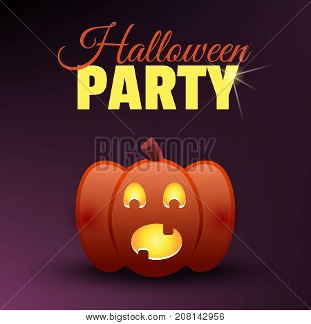 Halloween Party Card. Happy Halloween Banner. Holidays Vector Design Elements. Scared Screaming Fest