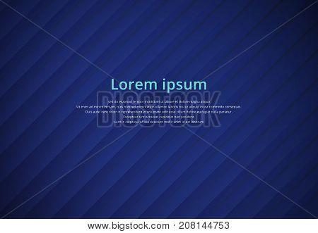 Blue striped background paper overlap vector illustration